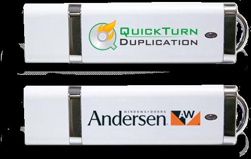 White Manhattan Style USB Flash Drives
