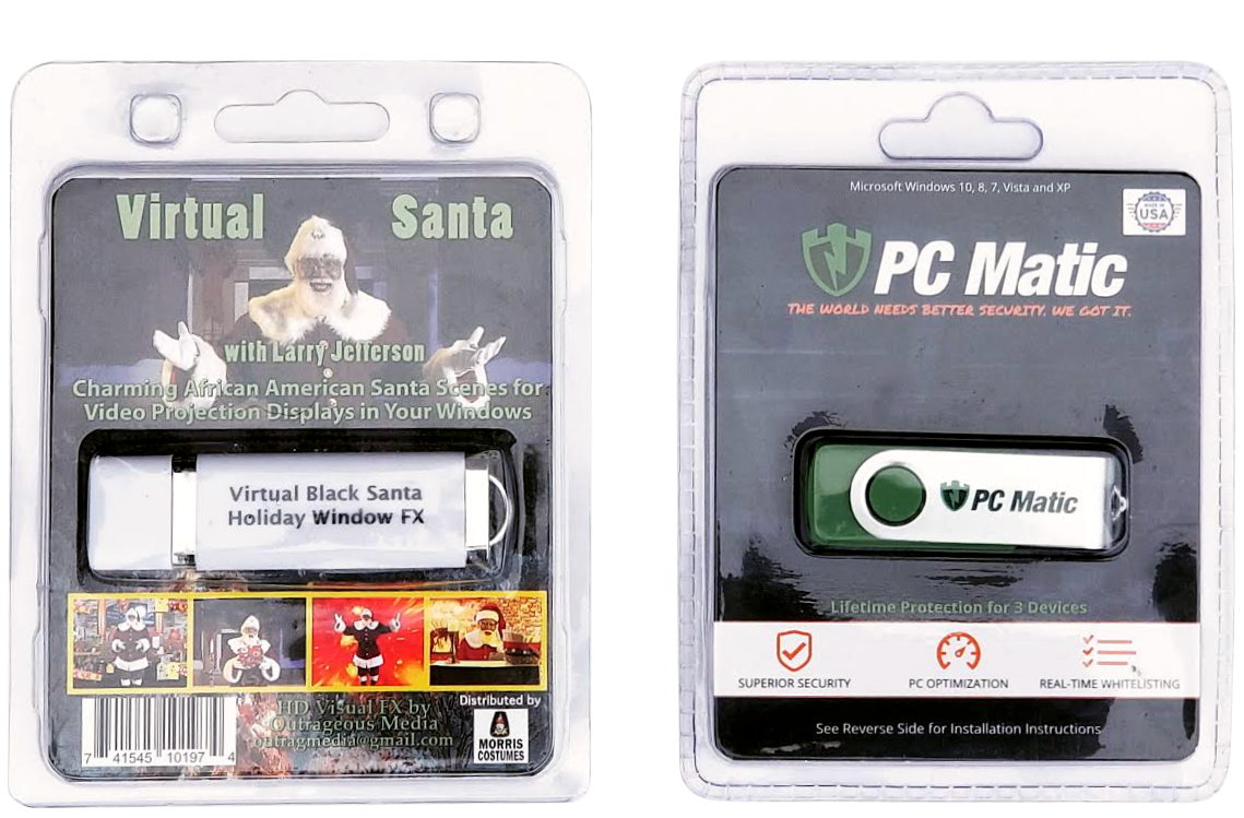 USB Flash Drives in Blister Pack and Clam Shell Style Packaging